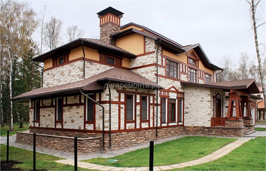 фото отделка фасадов коттеджей